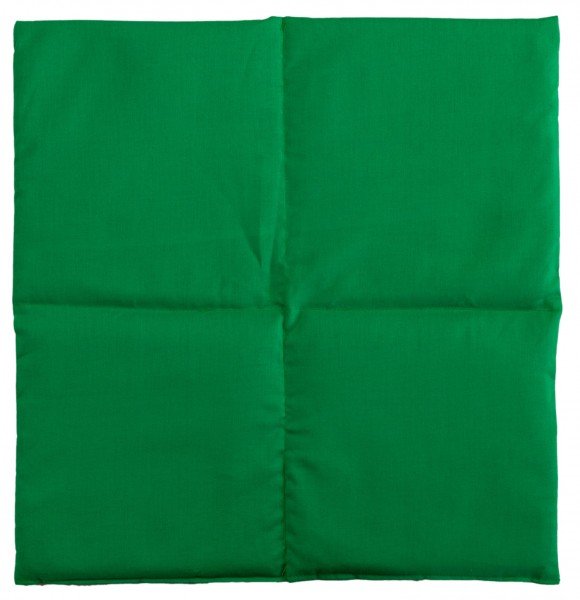 Körnerkissen 4-Kammer 40x40cm, grün