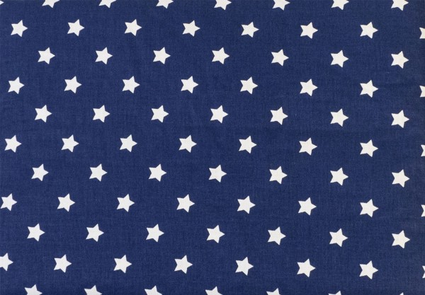 Körnerkissen 3-Kammer 50x20cm, Sterne-blau