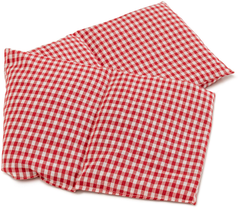 Wärmekissen 4-Kammer rot-weiß