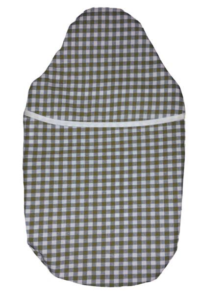 Wärmflaschenbezug Kompakt braun-weiß