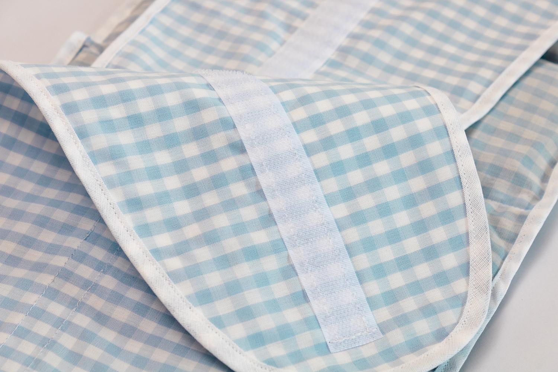 7 kammer kissen mit klettverschluss bio stoff hellblau wei xxl mit gurt und verschluss. Black Bedroom Furniture Sets. Home Design Ideas