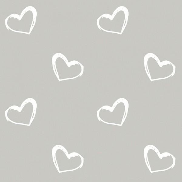 Stillkissenbezug Herzen grau