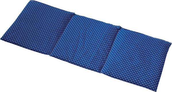 -> Traubenkernkissen 3-Kammer 50x20 Pünktchen blau