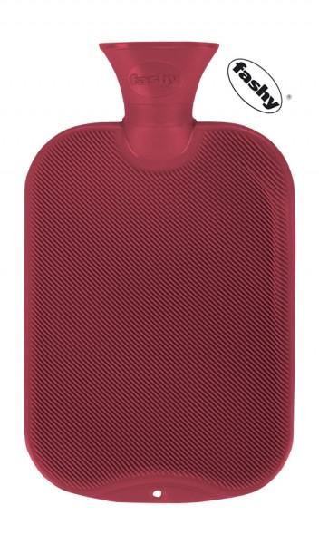 fashy Wärmflasche halblamelle rot 2l