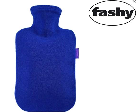 Wärmflasche mit Vlies-Bezug blau 2.0l 6530