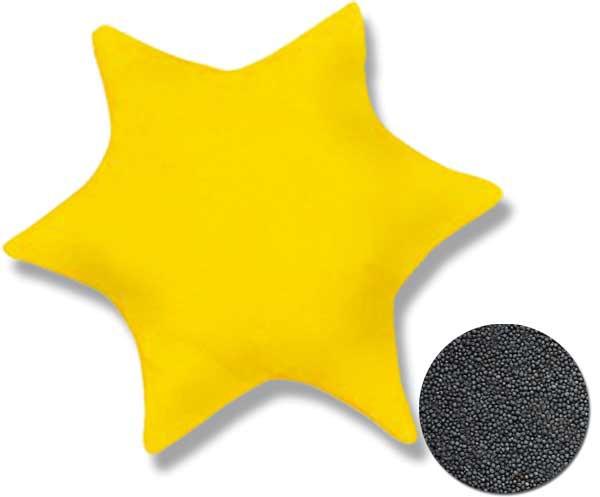 Rapssamenkissen Stern Sonnengelb ca. Ø 25cm