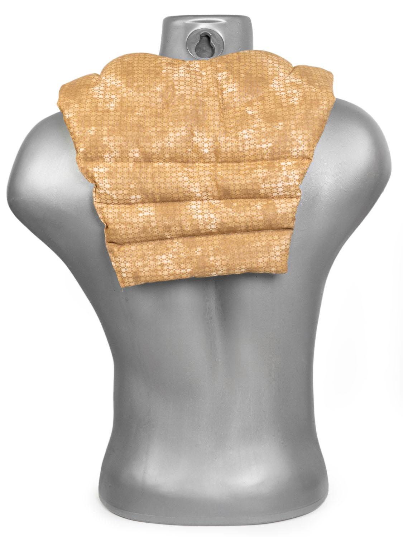 Kirschkern-Nackenkissen batik-gold