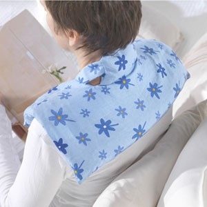 Schulter- & Nackenkissen Wärmekissen Rapssamen Blümchen blau