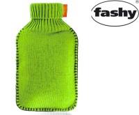 Wärmflasche mit Rollkragen-Strickbezug 2.0l neogrün 6715