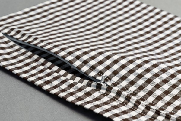 Kissenbezug 20x30cm | braun-weiß