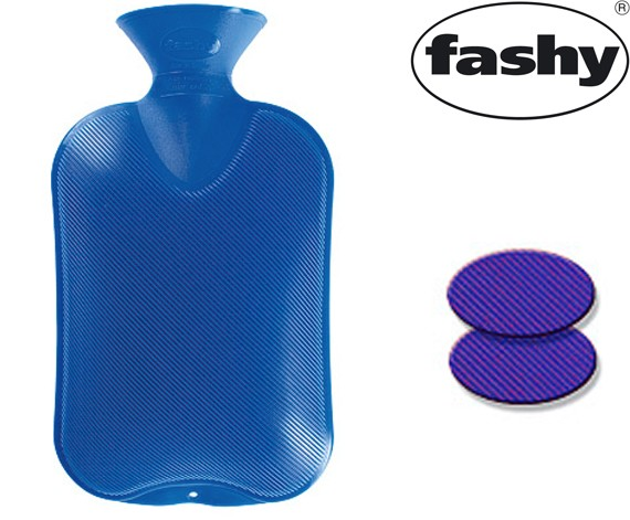 Wärmflasche 2.0l Doppellamelle enzianblau 6460