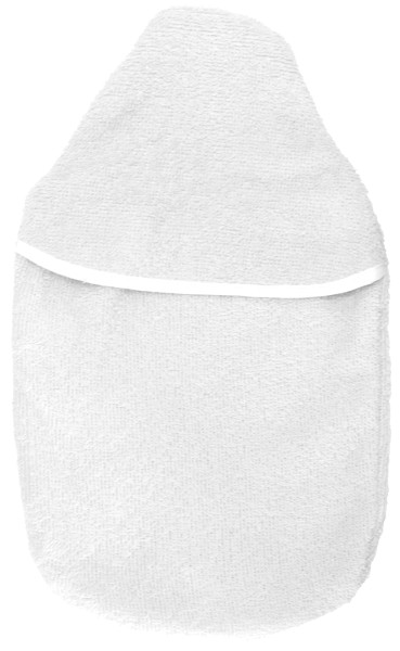 Wärmflaschenbezug Frottee weiß