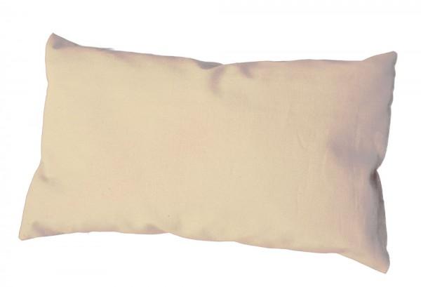 Kräuterkissen Bio-Inlett + Bio-Bezug 30x20cm natur