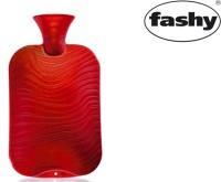 Wärmflasche 2.0l Doppellamelle  Wellen-Dekor  rot 6461
