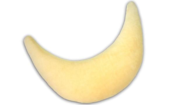 Plüschmond 140x27cm (92) gelb