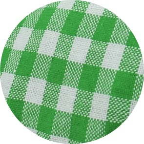 7-Kammer Kissen mit Klettverschluss, grün-weiß