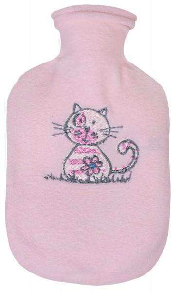 Kinder-Wärmflasche rosa-katze