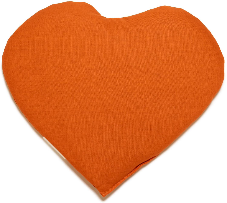 Kirschkernkissen Herz orange
