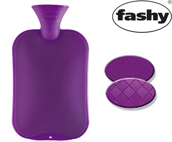 Wärmflasche 2.0l Halblamelle lila 6442