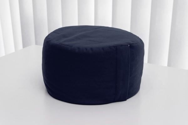Meditationskissen, H: 25cm, Ø40cm, Dinkelspelz, direkt befüllt