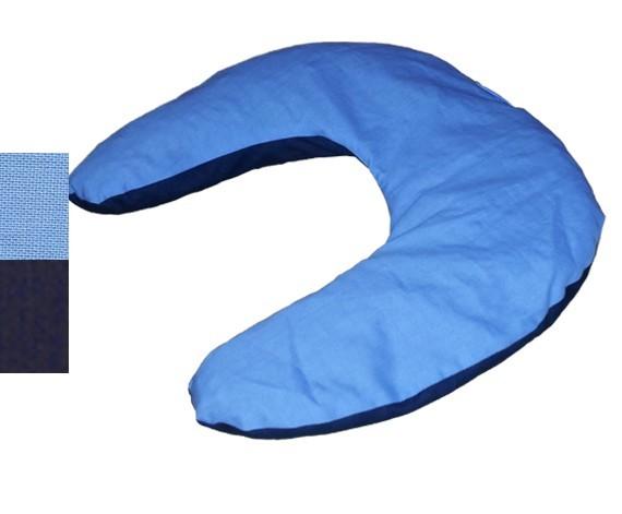 Nackenhörnchen 30x33, hellblau-dunkelblau