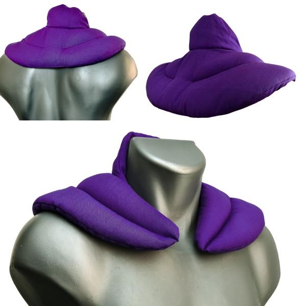 Wärmekissen für den Nacken lila