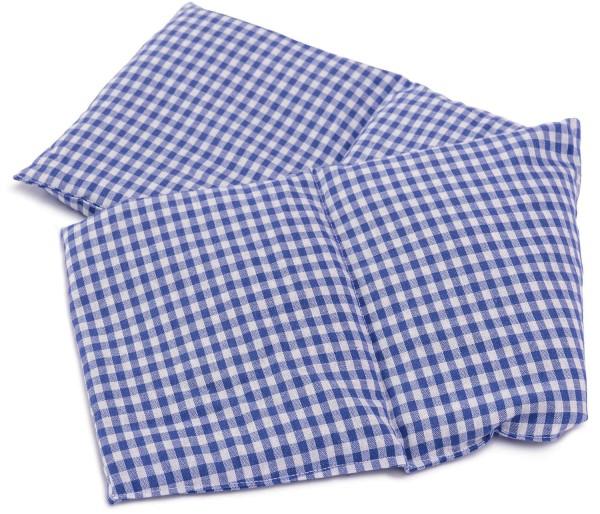 Körnerkissen 4-Kammer 60x20 blau-weiß