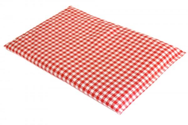 Dinkelkissen 30x20cm rot-weiß kariert