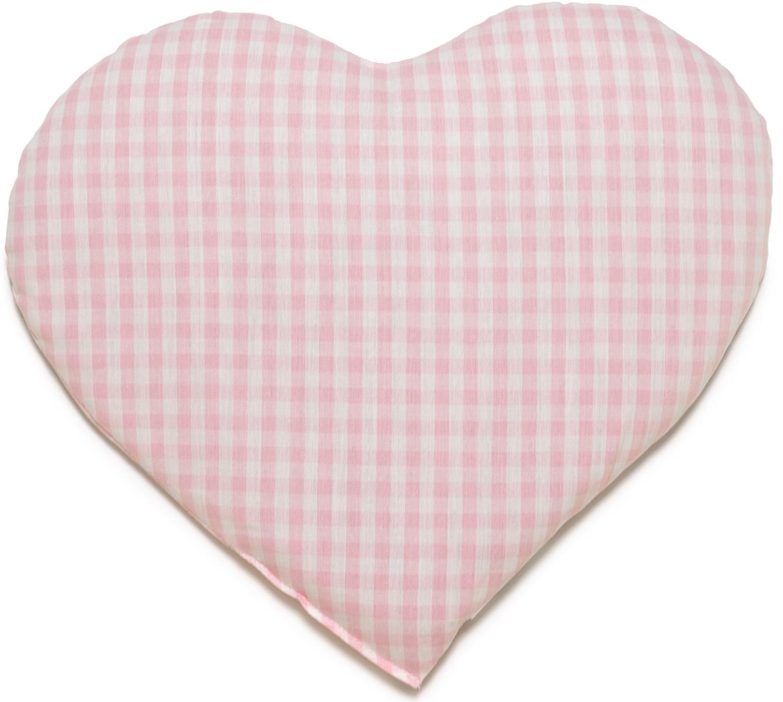 Kirschkern Herz rosa-weiß