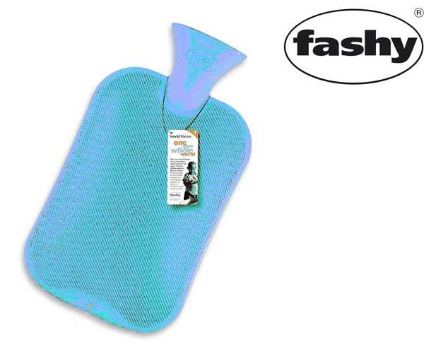 Wärmflasche 2.0l Halblamelle hellblau 6442