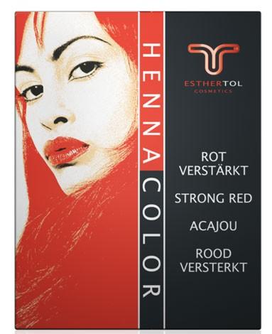 Henna Pulver Acajou rot verstärkt 85g Pflanzenhaarfarbe