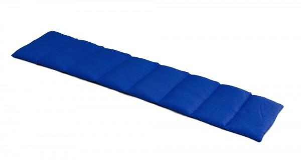 Körnerkissen 8-Kammer 75x20cm, Bio-Stoff dunkelblau