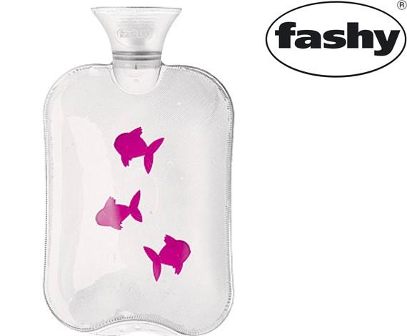 Wärmflasche 2.0l Fische mit Hitzewarnung 6231